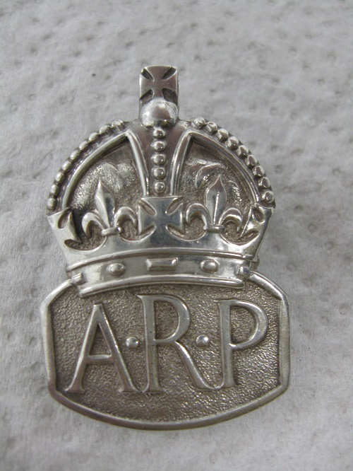 English ARP Civil Defence Badge